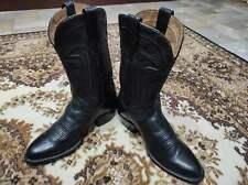 Tecovas Boots Men Black Leather Shoes sz. us 8.5 eu 43