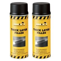 Dickschichtfüller Spray 2 x 400ml Schwarz 1K Füller Thick Layer Grundierung Kfz