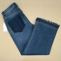 Ella Moss Cropped Wide Leg Jeans Women's Size 27 Released Hem Maple Wash NWT