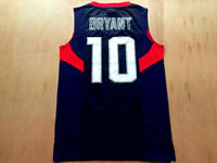 Retro 2008 Beijing Kobe Bryant #10 Basketball Jerseys Stitched USA Kobe Shirts