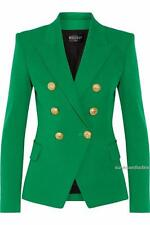 Balmain Double-breasted Green blazer FR36 Uk8 sold out Style Jacket