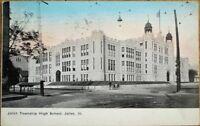 Joliet, IL 1908 Postcard: Joliet Township High School - Illinois Ill
