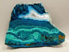 Chrysocolla Malachite 4 inch Polished Slab Rock Stone Arizona #17