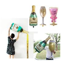 Champagne Bottle Glass Foil Balloons Happy Birthday & Wedding Party Decor