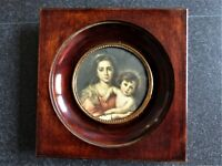 CADRE d'ART Peinture Mini Cadre Vierge à l'Enfant d'après Murillo 12 x 12 cm