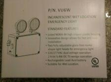White Outdoor Incandescent Wet Location Emergency Light 120/277 VAC Philips VU6W
