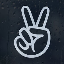 Hand Print Peace Sign Car Decal Vinyl Sticker For Panel Or Bumper Or Window