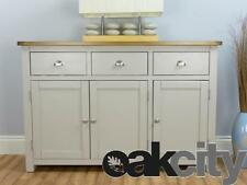 Wellington Painted Sideboard / Large 3 Door 3 Drawer Cupboard / Solid Oak Top
