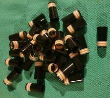 (10) Custom .355 Golf Iron Ferrules Black w/ Gray White Orange White Gray Rings