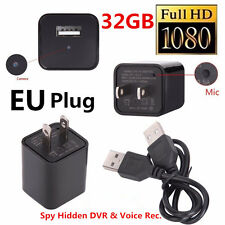 32GB 1080p Mini USB Spy Camera UX-6 AC Adapter USB Wall Charger Camcorder DV New