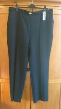 ladies papaya soft touch winter navy trousers size 20 elasticated waist classic