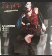 New Woman's Vampire Zombie Sexy Halloween Costume Dress With Cape Medium