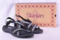 Women's Skechers Reggae- Hooky Sandals Black/Gray
