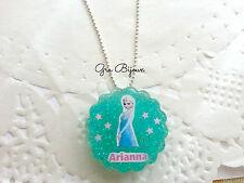 Collana resina frozen con nome crea la tua collana personalizzata con l'immagine