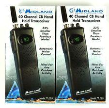 Lot of (2) MIDLAND 75-785 7-Watt, 40-Channel Portable CB Radio,NEW RETAIL