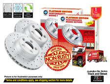 For KIA Sorento BL 302mm 3.5L,3.8L 03-09 FRONT Slotted Drilled Rotors & 4X4 Pads