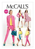 McCalls SEWING PATTERN M6711 Misses Jacket,Top,Dress,Skirt & Pants 6-14 or 14-22