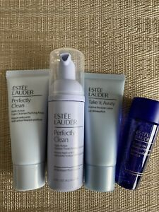 Estee Lauder Cleansing Set - 4 Travel Size Products Value £40