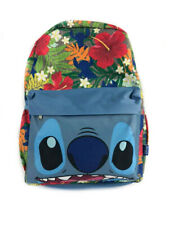 """Disney Backpack Lilo And Stitch Face Tropical Flowers 16"""""""