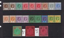 LEEWARD IS SCOTT#103-116 GEORGE VI SET-SOME PERF/COLOR VARIATIONS-21 STAMP MLH