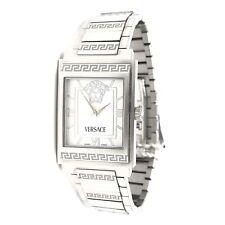 Versace Landmark ILQ99 Rectangle White Dial Stainless Steel Men's Quartz Watch
