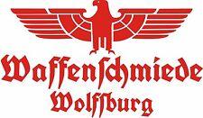 Waffenschmiede Wolfsburg Fahrzeug Aufkleber Signalrot WH Vehicle Sticker Eagle