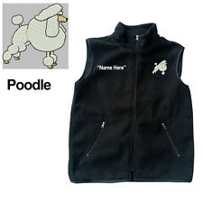 Poodle Dog Fleece Vest with Zippers Personal Name Stitched Monogrammed