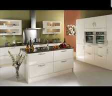 New B&Q Kitchen Doors 600x570mm cream gloss kitchen doors  .. Clearance ....
