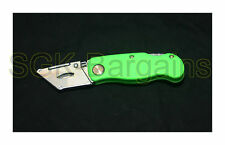 Green Foldable Pocket Utility Knife Handle No Blade DIY BUILDERS Carpet Fitting