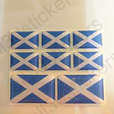 Pegatinas Escocia Pegatina Bandera Escocesa Vinilo Adhesivo 3D Relieve Resina