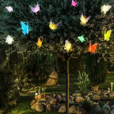 Solar Lichterkette LED Außen Deko Leuchte 10 x Schmetterlinge Garten Beleuchtung