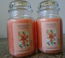 Yankee Candle  Tropical Lily   Lot of 2 22 oz.  NEW  Free Ship