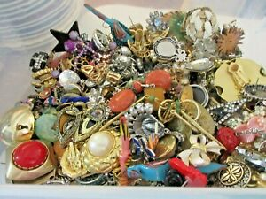 5 Lbs Vintage to Now SINGLE EARRINGS Jewelry Repurpose Crafts Reuse Clearance