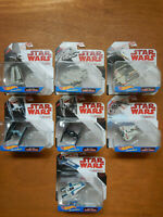 Star Wars Disney Mattel HotWheels Starships A-Wing X-Wing Tie Fighter Millennium