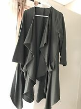 Excellent Worn Once Only Green Waterfall Trench Coat One Size