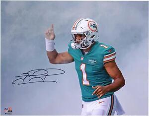 "Tua Tagovailoa Miami Dolphins Autographed 16"" x 20"" Smoke Photograph"