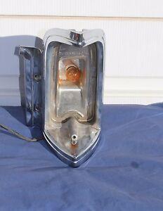 1968 1969 Cadillac Eldorado Left Park Lamp Light Chrome Bezel Trim No Lens