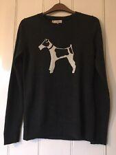 Hobbs Bailey Merino Wool Jumper, Grey/Ivory UK S (Small)
