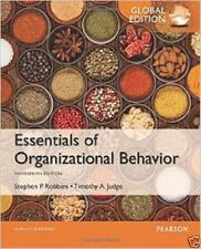 Essentials of Organizational Behavior 13E by Robbins, Judge (Global Edition)