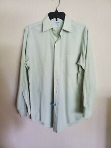 BROOKS BROTHERS slim fit 15 - 2/3 green long sleeve shirt EXCELLENT