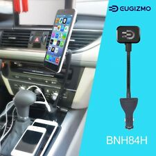 Eugizmo Car Magnetic Phone Holder Mount with Dual USB Charger for Cell Phones