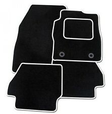 VAUXHALL ASTRA 2010 ONWARDS TAILORED BLACK CAR MATS WITH WHITE TRIM