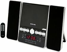 CRAIG CD PLAYER MICRO MINI SHELF SYSTEM with DUAL ALARM CLOCK AM/FM STEREO RADIO