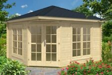 Gartenhaus Victoria C ca. 400 x 400 cm TENE Blockbohlen 40 mm inkl. Fußboden