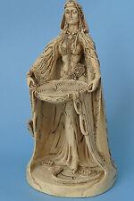 Danu,göttin,figur,skulptur,23x12cm,statue,polyresin,keltisch,steinoptik,irland