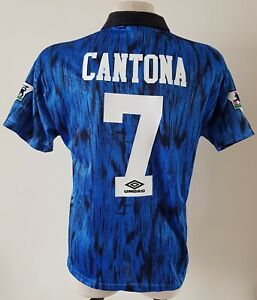 Manchester United 1992 - 1993 Away football Umbro shirt #7 Cantona