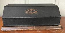 ANTIQUE RAPID CALCULATOR CO. ADDING MACHINE PHILADELPHIA WITH LID
