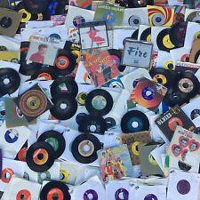 "45 rpm LOT 100 Random 7"" Vinyl Records Rock Soul Country Garage Pop 50s 60s 70s"