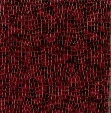 Komodo Cabernet Red Crocodile Glaze Textured Vinyl Upholstery Fabric 7448-860
