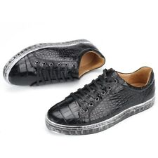 Men's Shoes Genuine Crocodile Alligator Skin Leather Handmade Size US10 - EUR43
